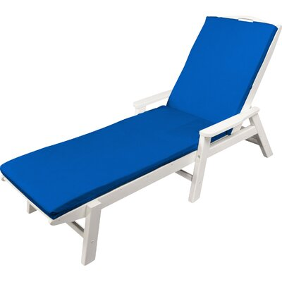 "Indoor/outdoor Sunbrella Chaise Lounge Cushion Fabric: Pacific Blue, Size: 22"" W X 72"" D"