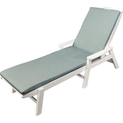 Outdoor Sunbrella Chaise Lounge Cushion Size: 22 W x 72 D, Fabric: Spa