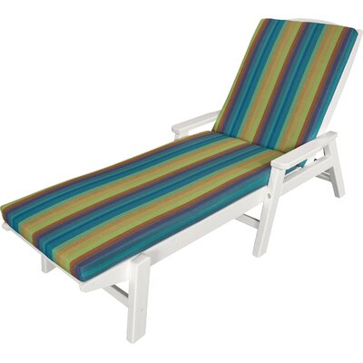 Outdoor Sunbrella Chaise Lounge Cushion Size: 22 W x 72 D, Fabric: Astoria Lagoon