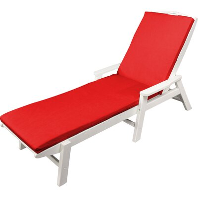 Outdoor Sunbrella Chaise Lounge Cushion Size: 22 W x 72 D, Fabric: Logo Red