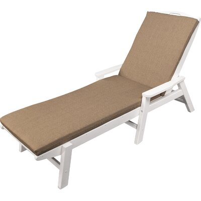 Outdoor Sunbrella Chaise Lounge Cushion Fabric: Sesame, Size: 22 W x 72 D