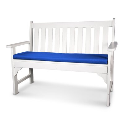 Swing Seat Cushion Fabric: Pacific Blue, Size: 53 W x 14 D