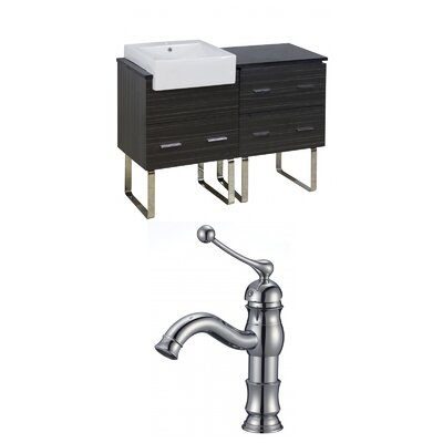 Mulberry Floor Mount 48 Single Bathroom Vanity Set Faucet Mount: Single Hole
