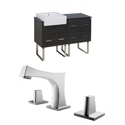 Mulberry Floor Mount 48 Single Bathroom Vanity Set Faucet Mount: 8 Centers