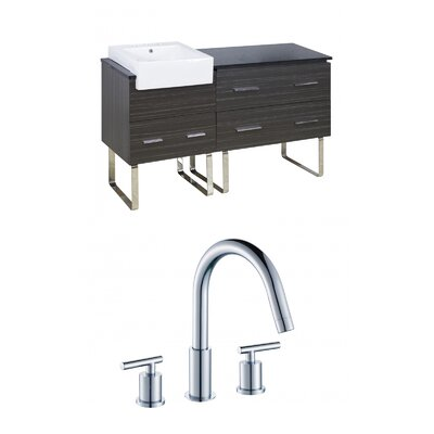 Mulberry Floor Mount 60 Single Bathroom Plywood Vanity Set Faucet Mount: 8 Centers