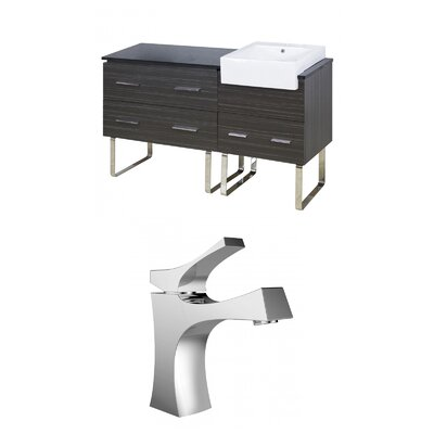 Mulberry Floor Mount 61 Single Bathroom Plywood Vanity Set