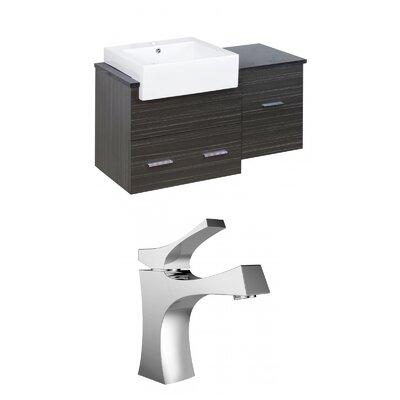 Mulberry Wall Mount 38 Single Bathroom Vanity Set Faucet Mount: Single Hole
