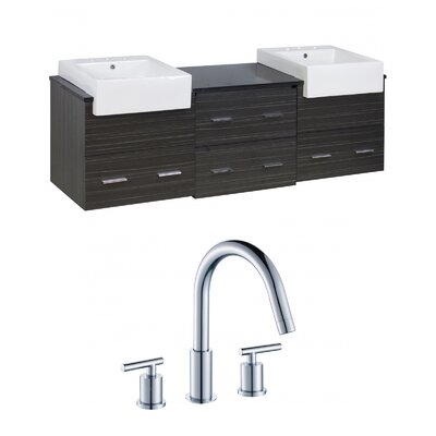 Mulberry Wall Mount 72 Single Bathroom Rectangular Vanity Set Faucet Mount: 8 Centers