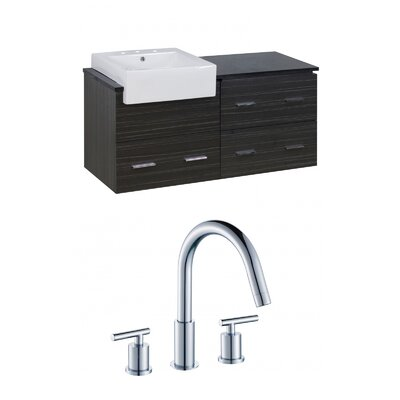 Mulberry Wall Mount 48 Single Bathroom Rectangular Plywood Vanity Set Faucet Mount: 8 Centers