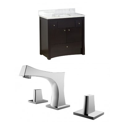 Kimbrell Floor Mount 36 Single Bathroom Vanity Set Faucet Mount: 8 Centers