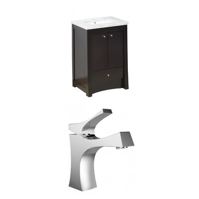 Kimbrell Exquisite Floor Mount 23.75 Single Bathroom Vanity Set Faucet Mount: Single Hole