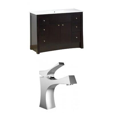 Kimbrell Floor Mount 48 Single Bathroom Vanity Set Faucet Mount: Single Hole