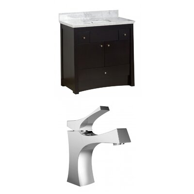 Kimbrell Floor Mount 36 Single Bathroom Vanity Set Faucet Mount: Single Hole