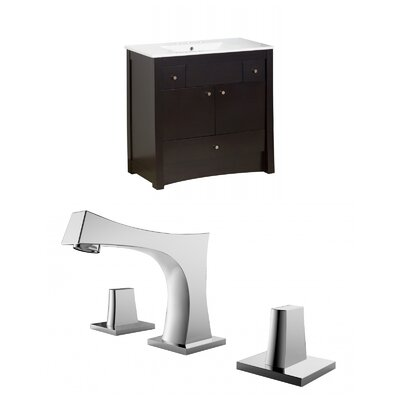 Kimbrell Floor Mount 35.5 Single Bathroom Vanity Set Faucet Mount: 8 Centers