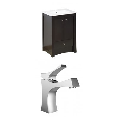 Kimbrell Floor Mount 23.75 Single Bathroom Vanity Set Faucet Mount: Single Hole