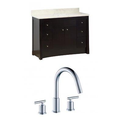 Kimbrell Floor Mount 47.6 Single Bathroom Vanity Set