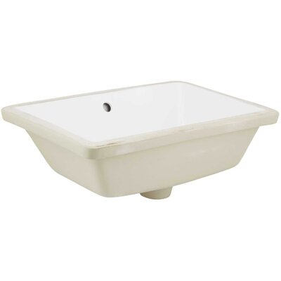 Nixon Floor Mount 23.75 Single Bathroom Rectangular Plywood-Veneer Vanity Set Sink Finish: Biscuit, Faucet Mount: Single Hole