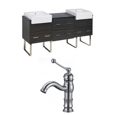 Mulberry Floor Mount 72 Single Bathroom Plywood Vanity Set Faucet Mount: Single Hole