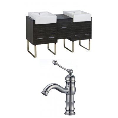 Mulberry Floor Mount 62 Single Bathroom Rectangular Vanity Set Faucet Mount: Single Hole, :