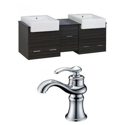 Mulberry Wall Mount 60 Single Bathroom Plywood Vanity Set Faucet Mount: Single Hole