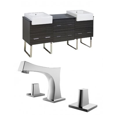 Mulberry Floor Mount 72 Single Bathroom Plywood Vanity Set Faucet Mount: 8 Centers