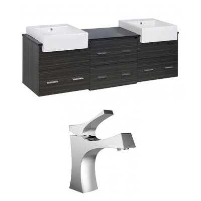 Mulberry Wall Mount 72 Single Bathroom Plywood Vanity Set Faucet Mount: Single Hole