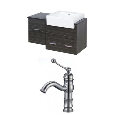 Mulberry Wall Mount 38 Modern Single Bathroom Vanity Set Faucet Mount: Single Hole
