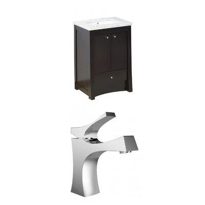 Kimbrell Transitional Floor Mount 31.75 Single Bathroom Vanity Set Faucet Mount: Single Hole