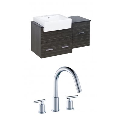 Mulberry Wall Mount 38 Single Bathroom Vanity Set Faucet Mount: 8 Centers