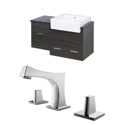 Mulberry Wall Mount 38 Modern Single Bathroom Vanity Set Faucet Mount: 8 Centers