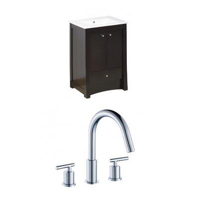 Kimbrell Floor Mount 23.75 Single Bathroom Vanity Set Faucet Mount: 8 Centers