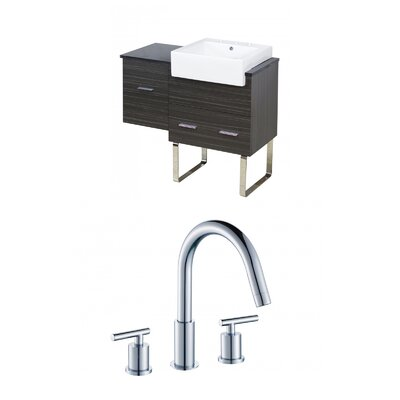 Mulberry Floor Mount 38 Single Bathroom Vanity Set Faucet Mount: 8 Centers