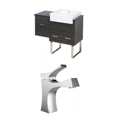 Mulberry Floor Mount 38 Single Bathroom Vanity Set Faucet Mount: Single Hole
