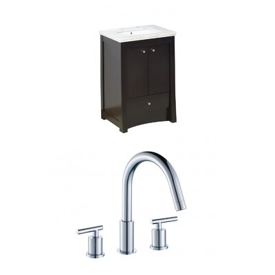 Kimbrell Transitional Floor Mount 31.75 Single Bathroom Vanity Set Faucet Mount: 8 Centers