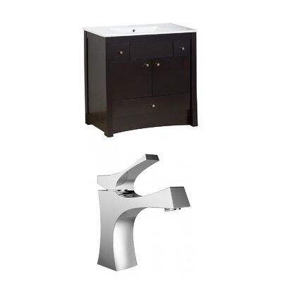 Kimbrell Floor Mount 35.5 Single Bathroom Vanity Set Faucet Mount: Single Hole