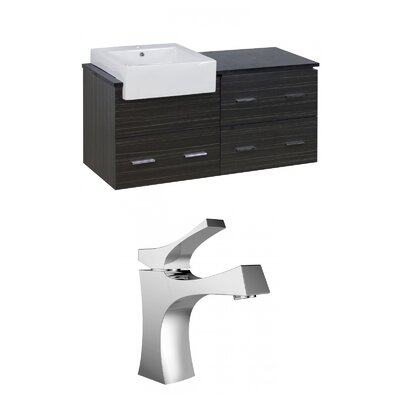 Mulberry Wall Mount 48 Single Bathroom Rectangular Plywood Vanity Set Faucet Mount: Single Hole