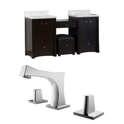 Kimbrell Transitional Floor Mount 68.75 Single Bathroom Vanity Set Faucet Mount: 8 Centers