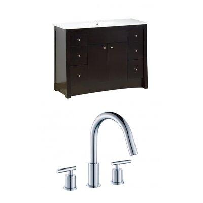 Kimbrell Floor Mount 48 Single Bathroom Vanity Set Faucet Mount: 8 Centers