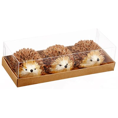 Hedgehog 3 Piece Statue Set AAF347-BR-BE