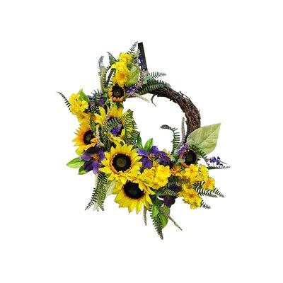 """24"""" Sunflower Wreath AGGR3846 38422188"""