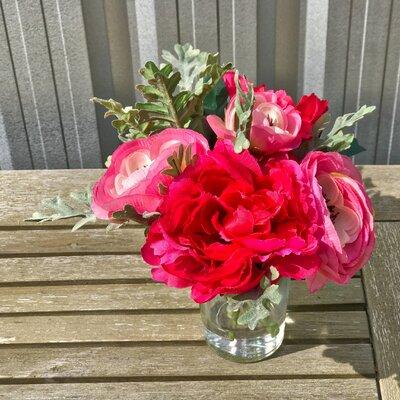 Faux Garden Cut Floral Arrangement in Vase EBDG2949 43109864