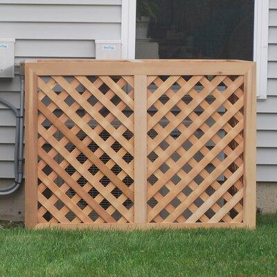Wood Lattice Panel Trellis Size: 4' W x 4' D
