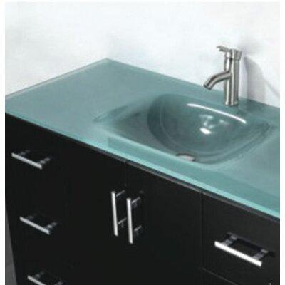 Amara 48 Single Bathroom Vanity Set with Mirror Base Finish: Espresso