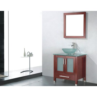 Adrian 36 Single Bathroom Vanity Set with Mirror Base Finish: Chestnut