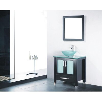 Adrian 30 Single Bathroom Vanity Set with Mirror Base Finish: Espresso