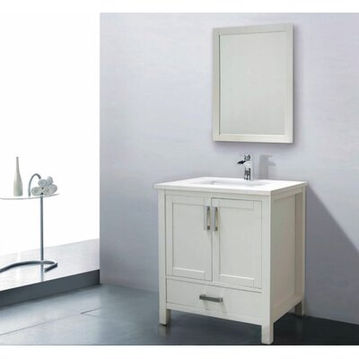 Astoria 30 Single Bathroom Vanity Set with Mirror Base Finish: Espresso