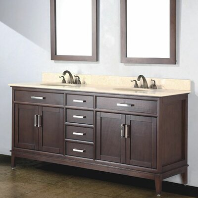 Augusta 72 Double Bathroom Vanity Set with Mirror