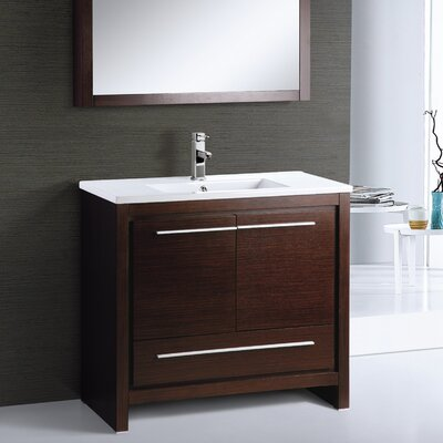 Alexa 36 Single Bathroom Vanity Set with Mirror