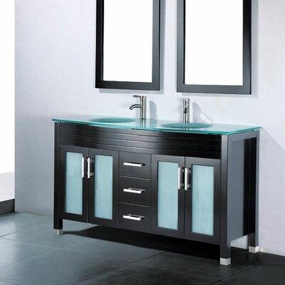 Adora 59 Double Bathroom Vanity Set with Mirror