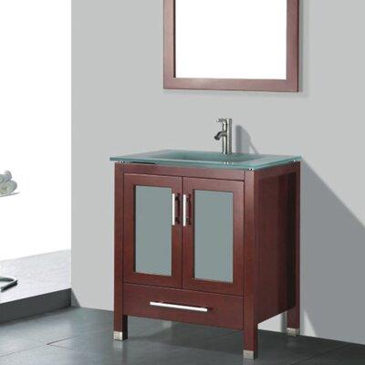 Amara 30 Single Bathroom Vanity Set with Mirror Base Finish: Chestnut